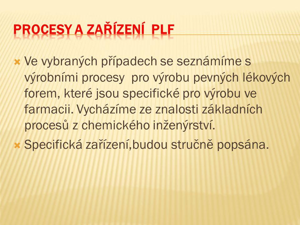 Procesy a zařízení PLF
