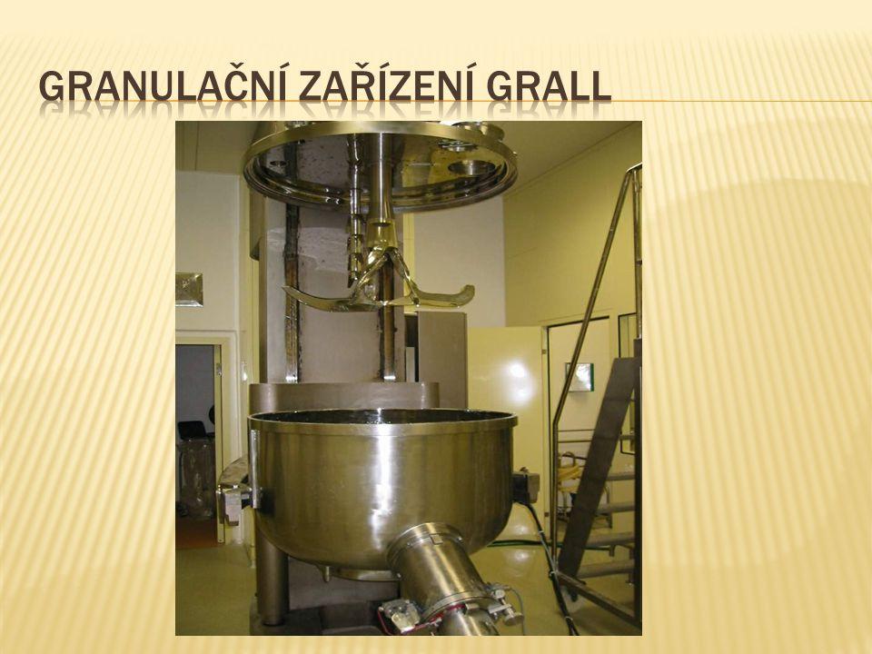 Granulační zařízení Grall