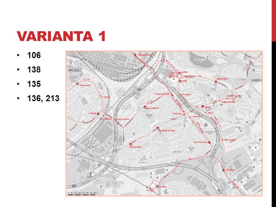 Varianta 1 106 138 135 136, 213
