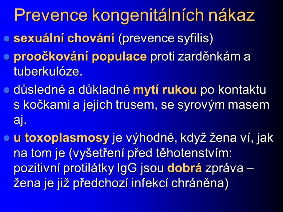 Prevence kongenitálních nákaz