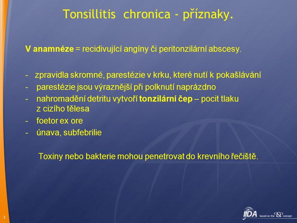Tonsillitis chronica - příznaky.