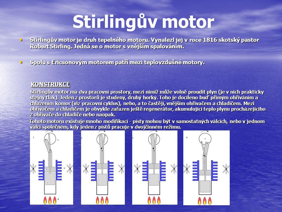 Stirlingův motor KONSTRUKCE