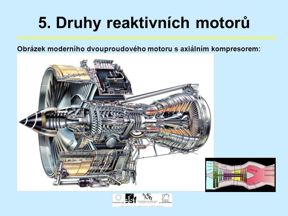 5. Druhy reaktivních motorů