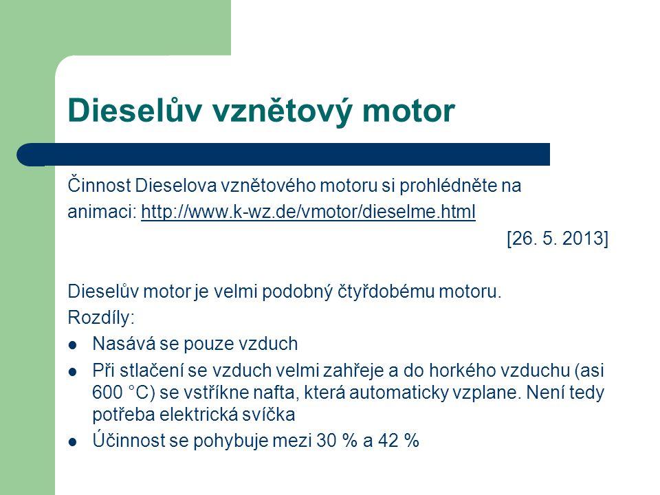 Dieselův vznětový motor