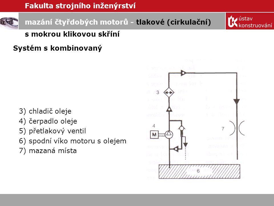 mazání čtyřdobých motorů - tlakové (cirkulační)