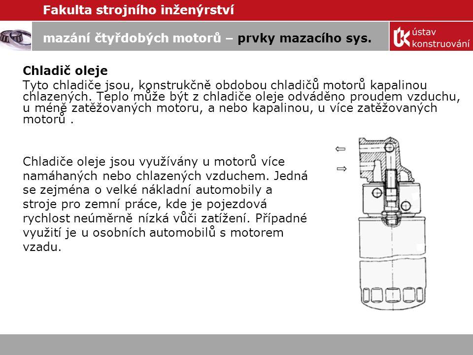 mazání čtyřdobých motorů – prvky mazacího sys.