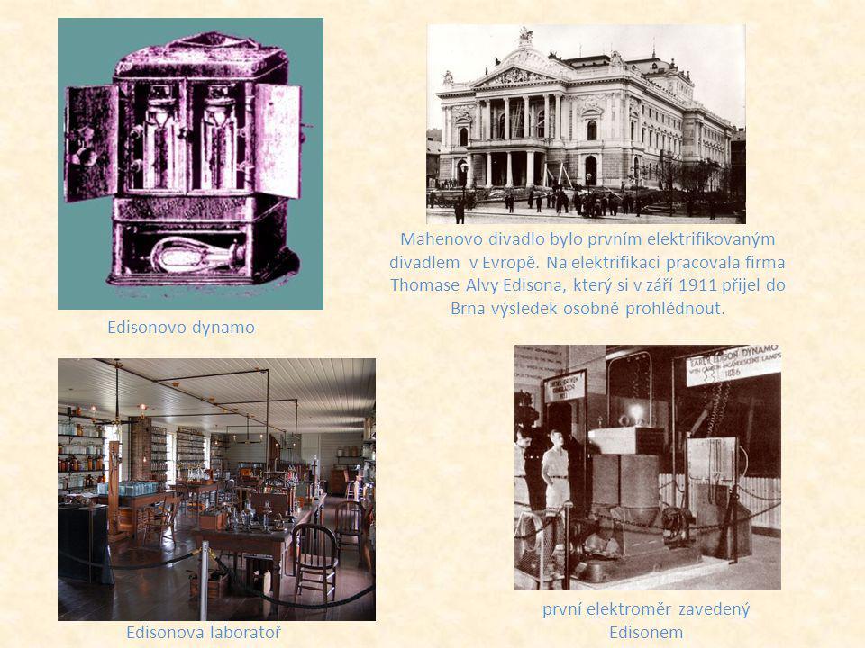 první elektroměr zavedený Edisonem