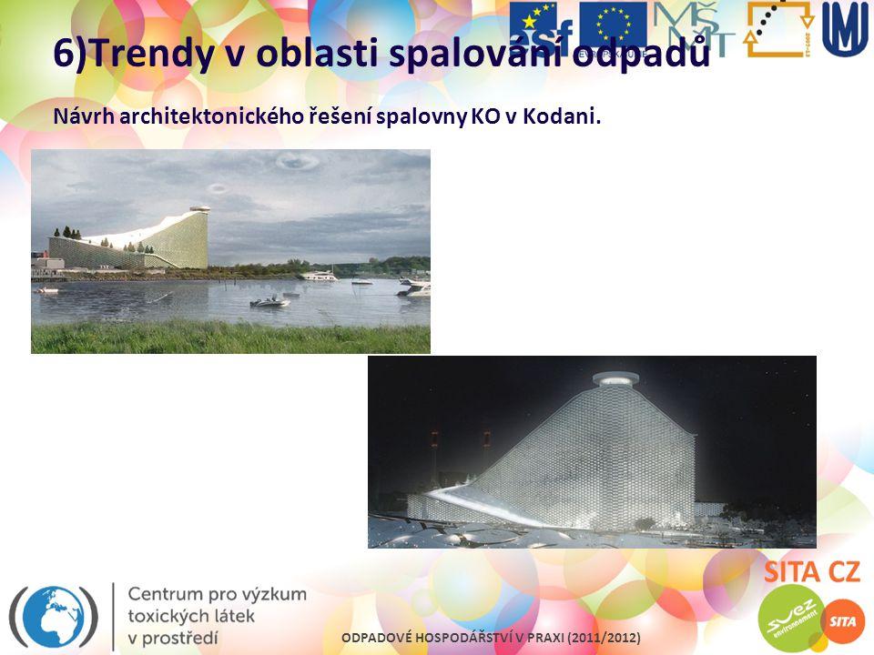 6)Trendy v oblasti spalování odpadů Návrh architektonického řešení spalovny KO v Kodani.