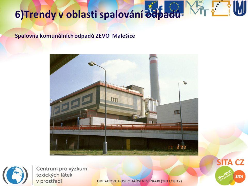 6)Trendy v oblasti spalování odpadů Spalovna komunálních odpadů ZEVO Malešice
