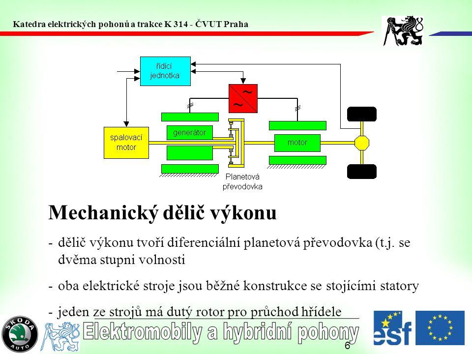 Mechanický dělič výkonu