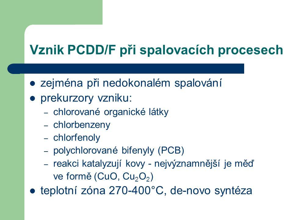 Vznik PCDD/F při spalovacích procesech