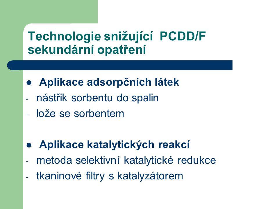 Technologie snižující PCDD/F sekundární opatření