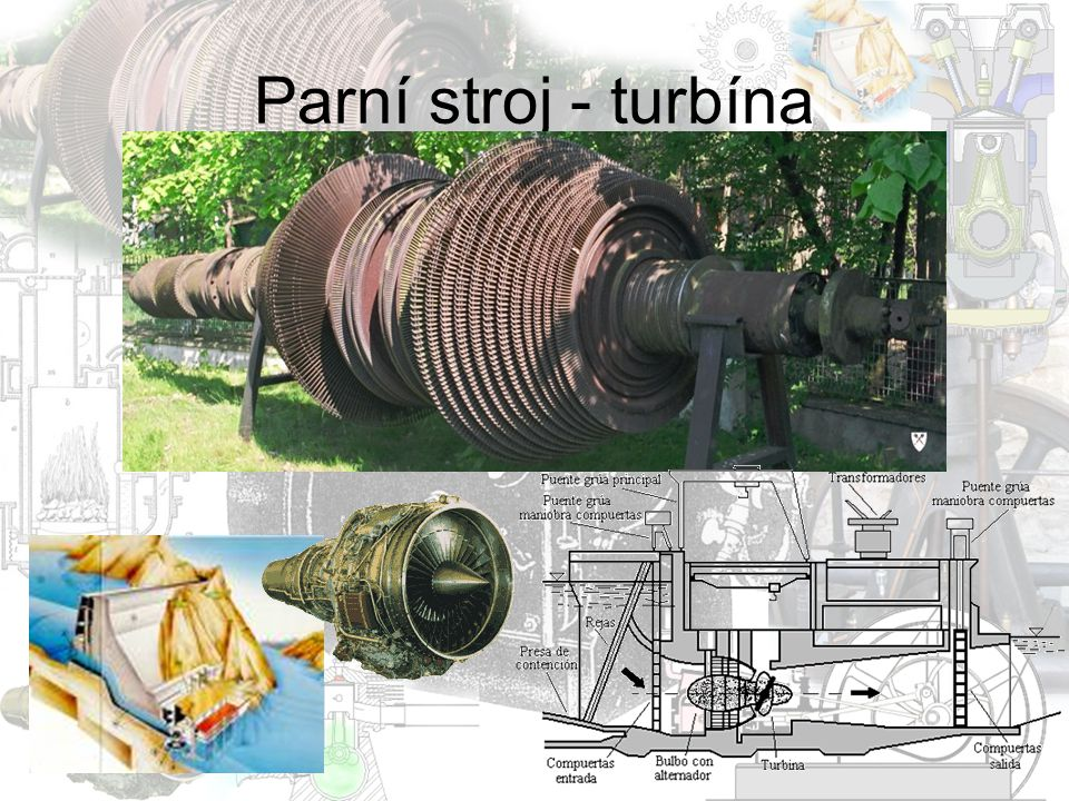 Parní stroj - turbína