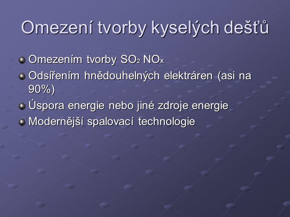 Omezení tvorby kyselých dešťů