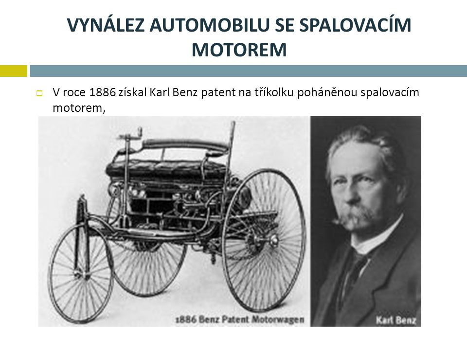 Vynález automobilu se spalovacím motorem