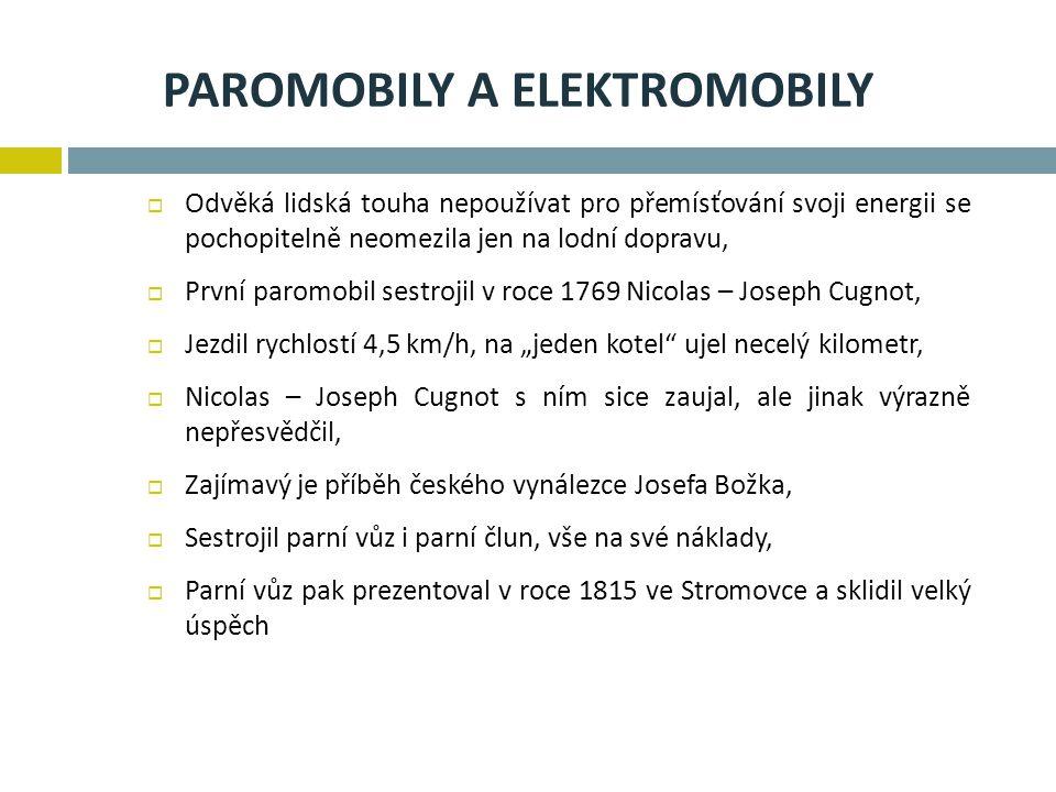 Paromobily a elektromobily
