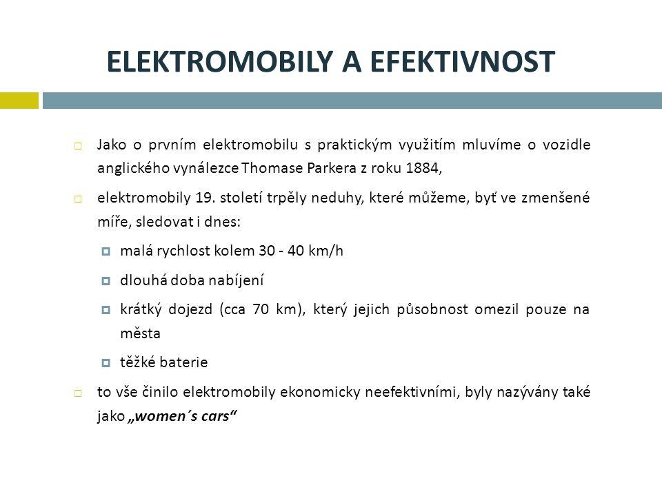 Elektromobily a efektivnost