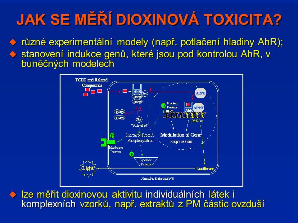 JAK SE MĚŘÍ DIOXINOVÁ TOXICITA
