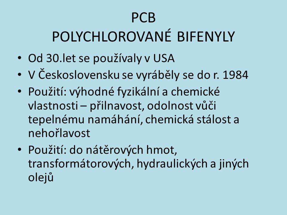 PCB POLYCHLOROVANÉ BIFENYLY