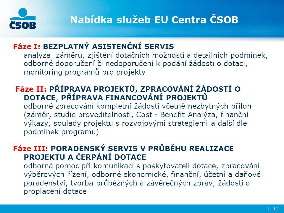 Nabídka služeb EU Centra ČSOB