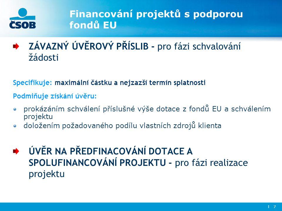 Financování projektů s podporou fondů EU