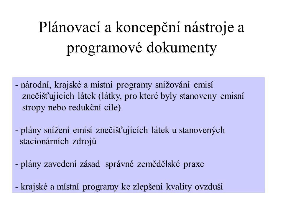 Plánovací a koncepční nástroje a programové dokumenty
