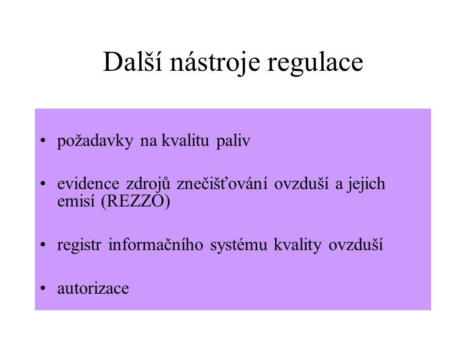 Další nástroje regulace