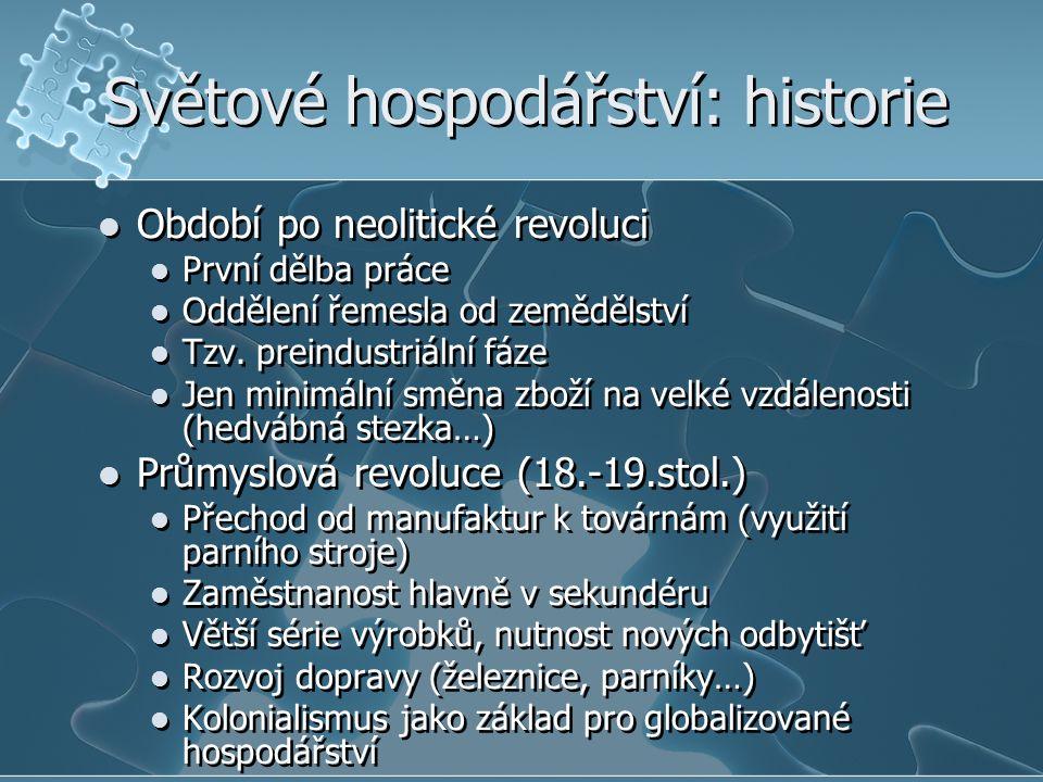 Světové hospodářství: historie