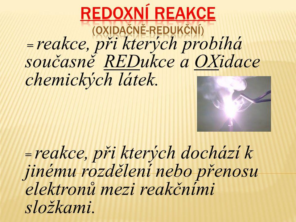 Redoxní reakce (oxidačně-redukční)
