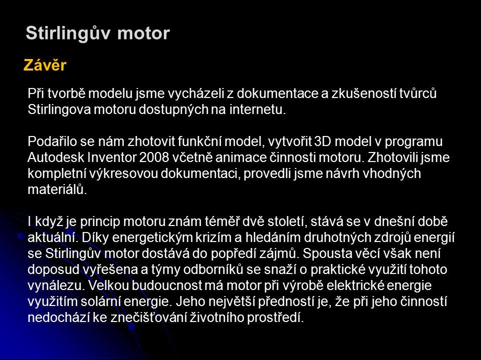 Stirlingův motor Závěr