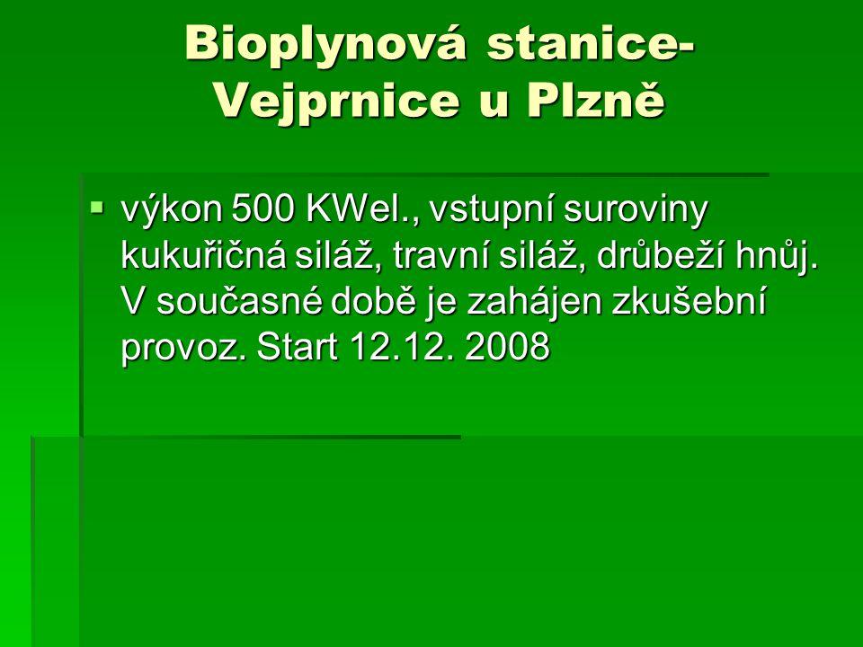 Bioplynová stanice- Vejprnice u Plzně