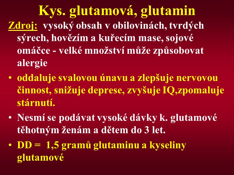 Kys. glutamová, glutamin