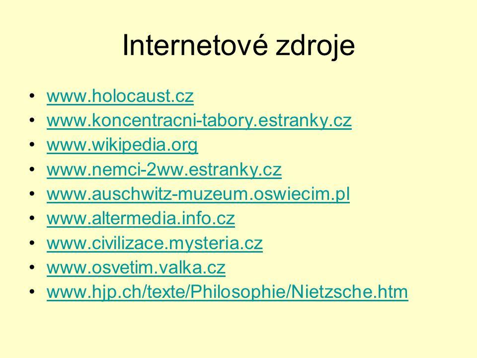 Internetové zdroje www.holocaust.cz