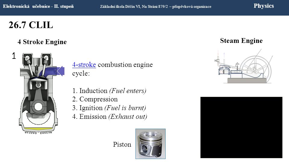 26.7 CLIL Steam Engine 4 Stroke Engine 4-stroke combustion engine