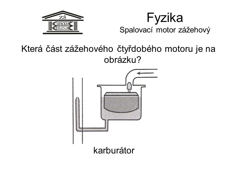 Fyzika Spalovací motor zážehový