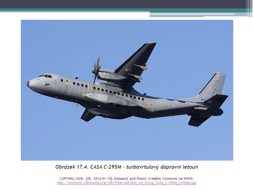 Obrázek 17.4. CASA C-295M – turbovrtulový dopravní letoun