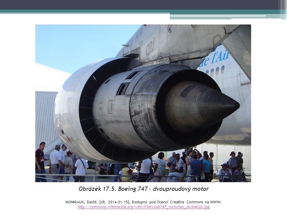 Obrázek 17.5. Boeing 747 - dvouproudový motor
