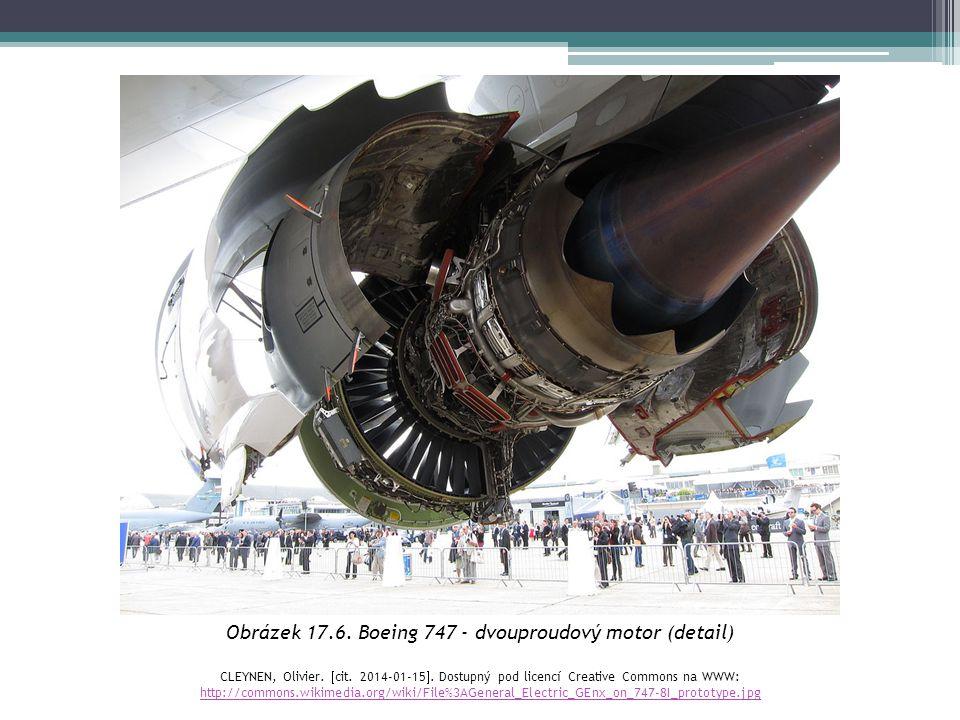 Obrázek 17.6. Boeing 747 - dvouproudový motor (detail)