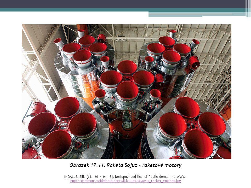 Obrázek 17.11. Raketa Sojuz – raketové motory