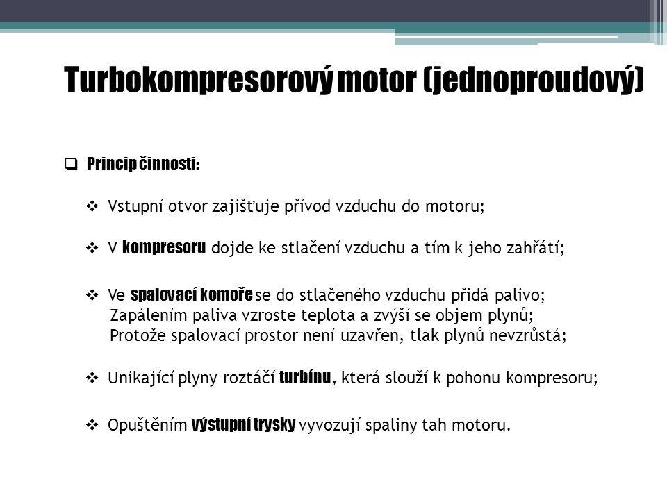 Turbokompresorový motor (jednoproudový)