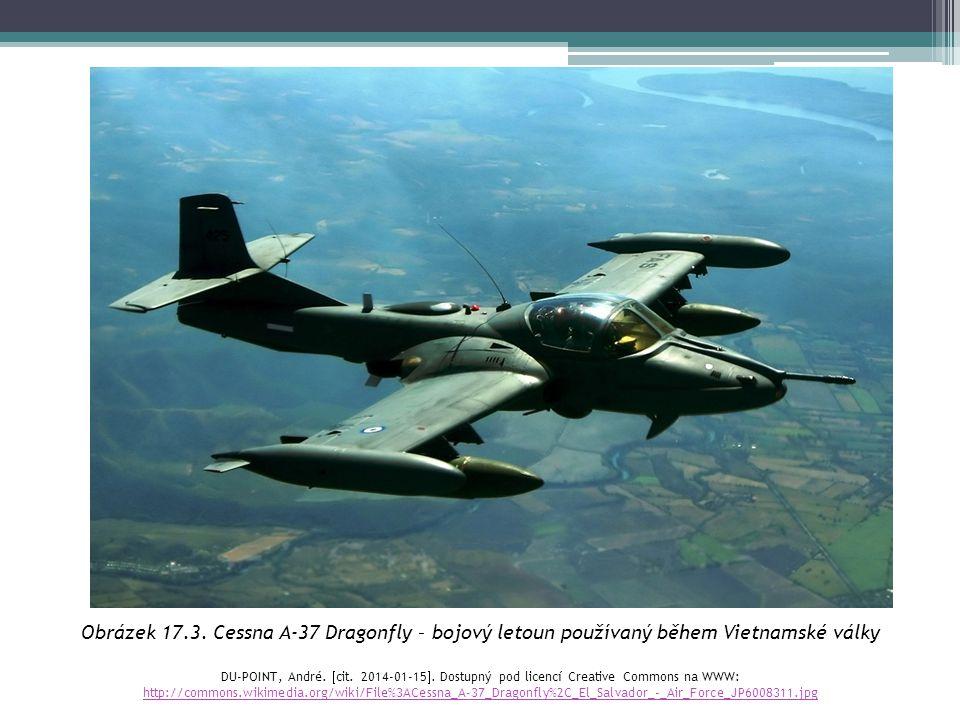 Obrázek 17.3. Cessna A-37 Dragonfly – bojový letoun používaný během Vietnamské války
