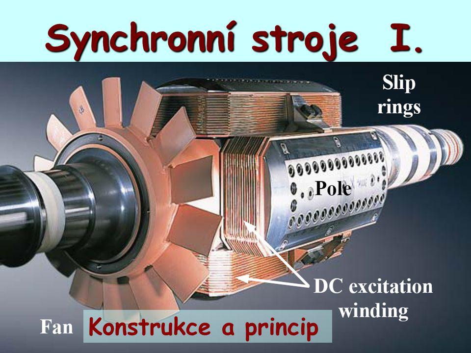 Synchronní stroje I. Konstrukce a princip