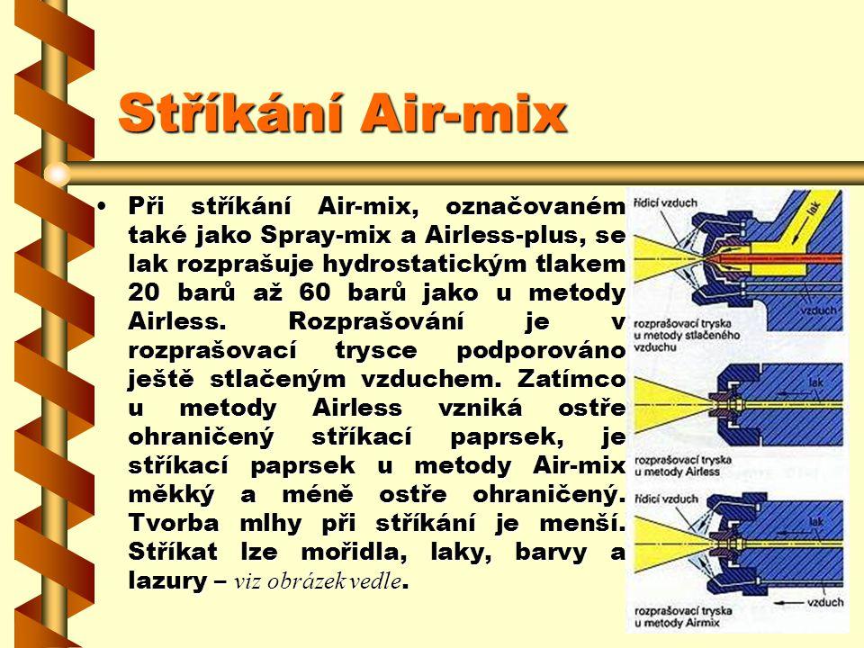 Stříkání Air-mix