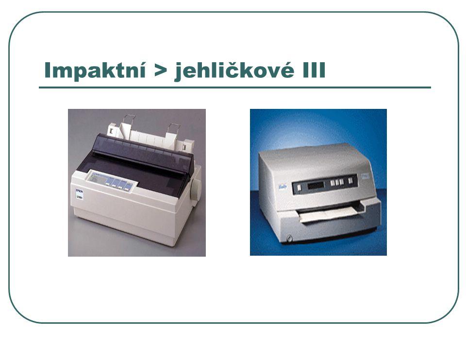Impaktní > jehličkové III