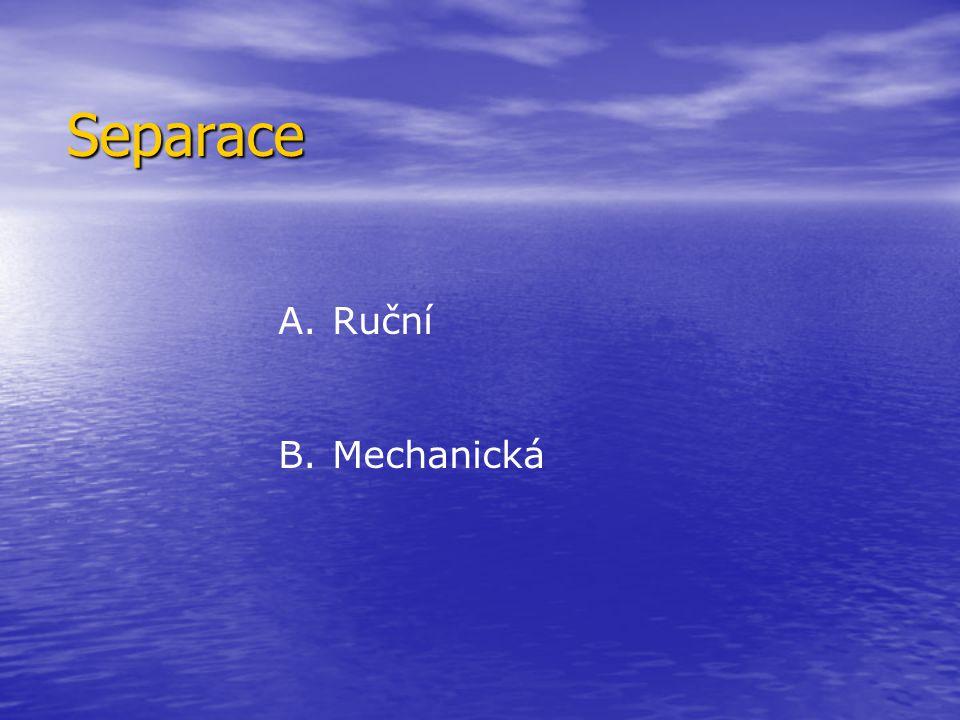 Separace Ruční Mechanická