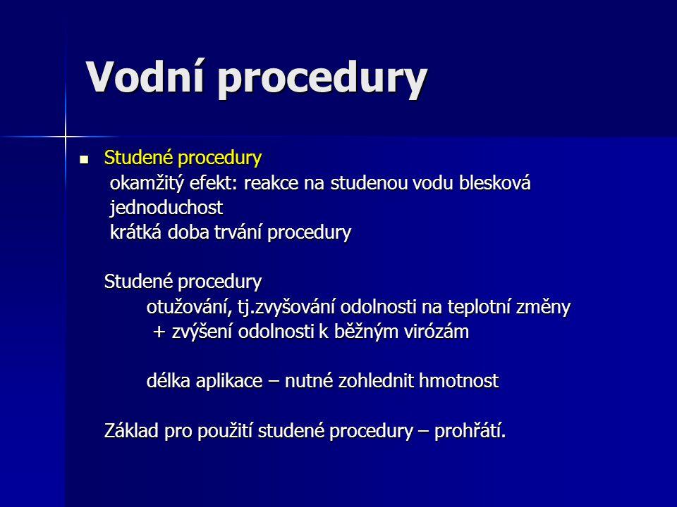 Vodní procedury Studené procedury