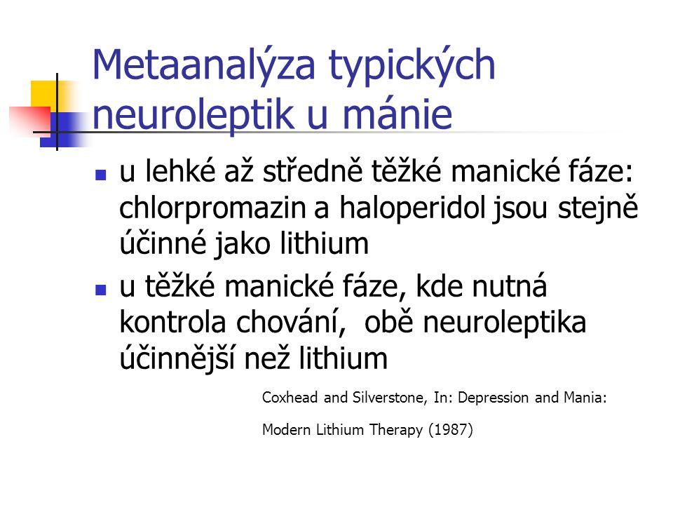 Metaanalýza typických neuroleptik u mánie