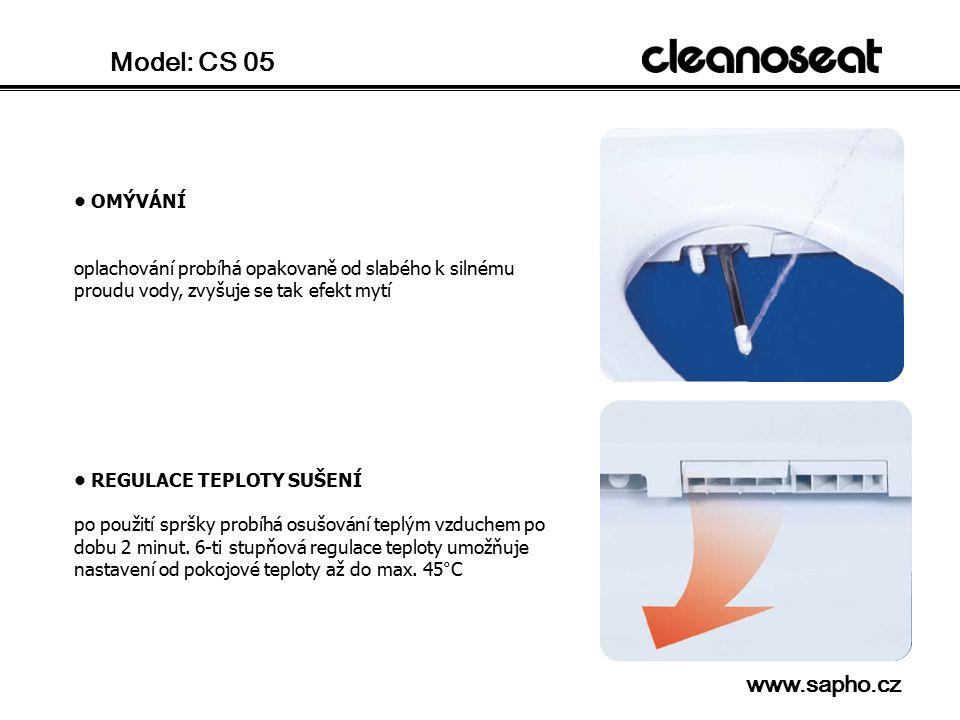 Model: CS 05 www.sapho.cz • OMÝVÁNÍ