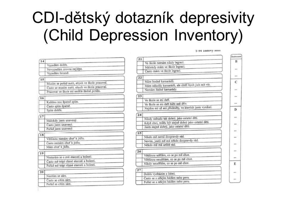 CDI-dětský dotazník depresivity (Child Depression Inventory)