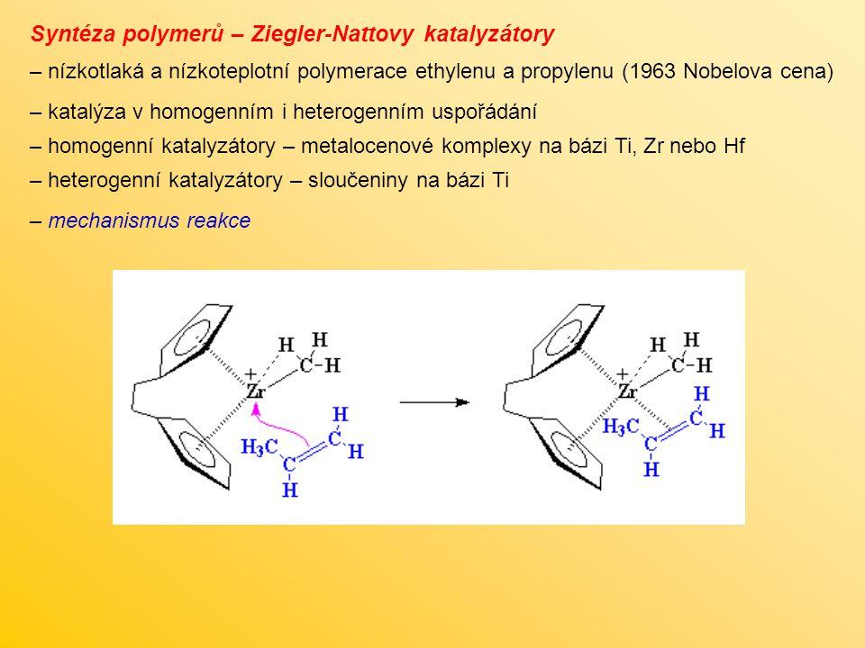 Syntéza polymerů – Ziegler-Nattovy katalyzátory